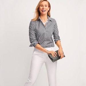 🌟 Talbots Classic Cotton Gingham Shirt
